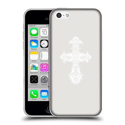 GoGoMobile Coque de Protection TPU Silicone Case pour // Q09260631 Croix chrétienne 36 Platine // Apple iPhone 5C