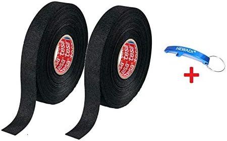 2 x 51608-00009-00 cinta adhesiva de tejido PET 51608 cinta aislante para árboles de cables cinta adhesiva de algodón (15 mm x 25 m) + abrebotellas de HEWADI®: Amazon.es: Industria, empresas y ciencia