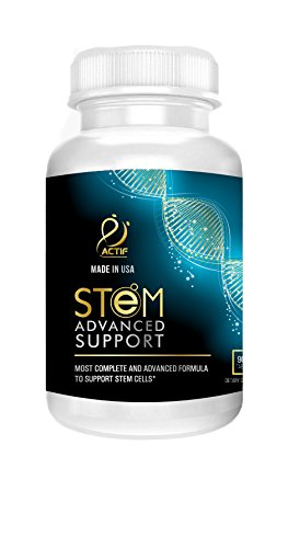 ACTIF STEM CELL SUPPORT - Maximum Strength with 10+ Stem Cell Factors, 2 month supply, Made in USA