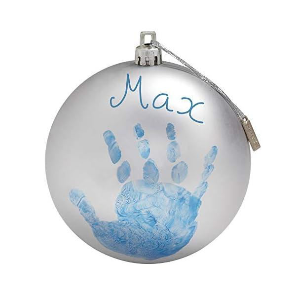 Baby Art My Christmas Fairy Pallina di Natale in Plastica, Decorazione Natalizia Albero Natale, con Kit Impronta, Argento 1 spesavip