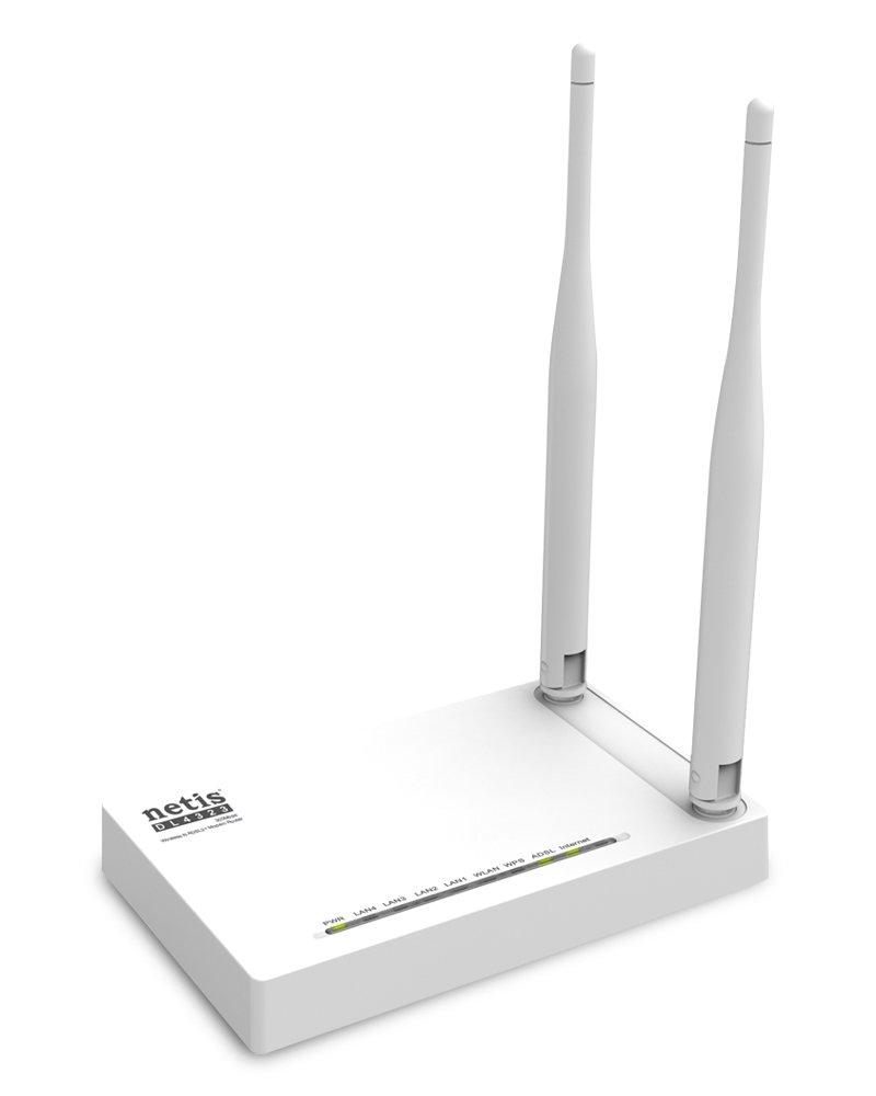 Netis DL4323 N300Mbps Wireless ADSL2+ Modem Router, 2.4Ghz, 802.11b/g/n, Dual 5dBi High Gain Antennas
