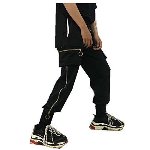 Korea Military Style Heavy Duty Zipper Trousers Casual Loose Men Women