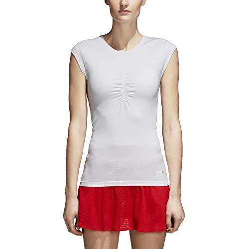 adidas Women's Stella McCartney Barricade Tennis Tee (S, White)