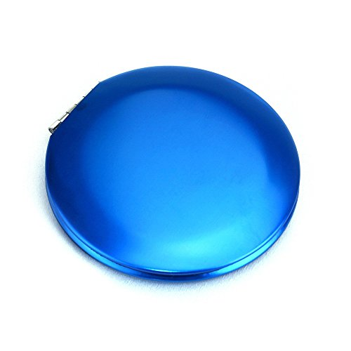 KEANER Women's Accessories Cute Mirror Mini Round Simple Pattern Small Glass Mirrors Circles for Crafts Decoration Cosmetic Accessory Sapphire Blue by KEANER