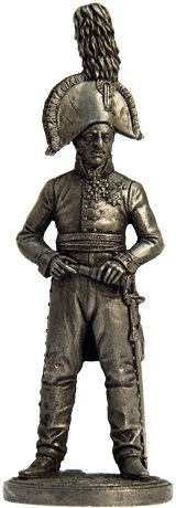 Nap-18 Russian General Tin Toy Soldiers Metal Sculpture Miniature Figure Collection 54mm scale 1//32