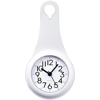 Bathroom Kitchen Hanging Clock With Sucker Hooks Waterproof Silent Movement Shower Clock