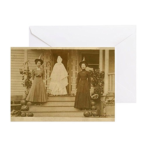 CafePress - Vintage Halloween Photograph Witches - Greeting Card, Note Card, Birthday Card, Blank Inside Glossy