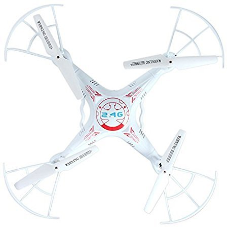 RC Flugzeug, Helikopter Quadrocopter UMsky X8 RC Drohne 2.4GHz 4CH 6 Axis Gyroskop Drahtlose Fernbedienung Quadcoptere Hubschrauber UAV mit 2MP HD Kamera Farbe weiß Flugspielzeug