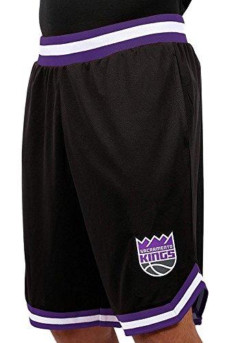 - Ultra Game NBA Sacramento Kings Men's Mesh Basketball Shorts Woven Active Basic, Small, Black