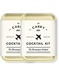 MAS-CARRY-CC-2 Carry on Cocktail Kit, Champagne Cocktail, Travel Kit for Drinks on the Go, Craft Cocktails, TSA Approved, Pack of 2