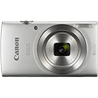 Canon IXUS 185 /Elph 180 Silver Digital Compact Camera (International Model No Warranty)
