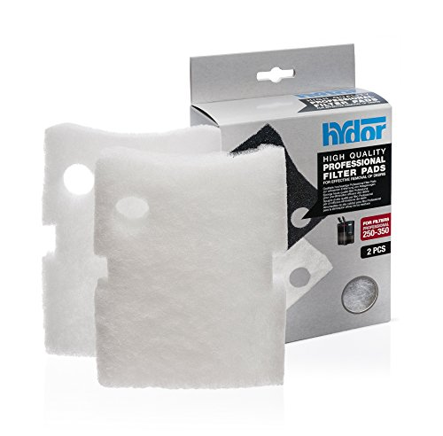 (Hydor Professional External Canister Filter Media, 2 pk, Medium, White Pad, Fits 250/350)