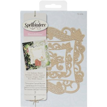 Spellbinders Nestabilities Dies ~ Decorative Curved Square
