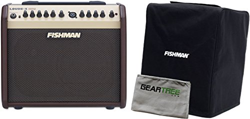 Fishman Loudbox Mini 60Watt Two Channel Acoustic Amp Reverb/Chorus 3 Band EQ w/ Geartree Cloth and Slip Cover by F I S H M A N