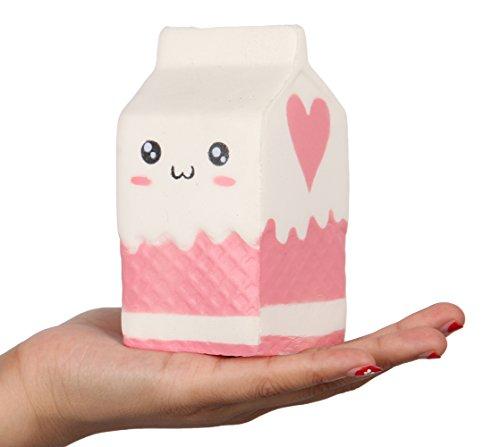 Anboor 4.8″ Jumbo Slow Rising Kawaii Squishies Milk Bag ...