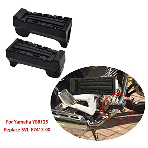 LACKINGONE For YAMAHA YBR 125 YBR125 Front Footrest Rubbers Rubber Peg NEW