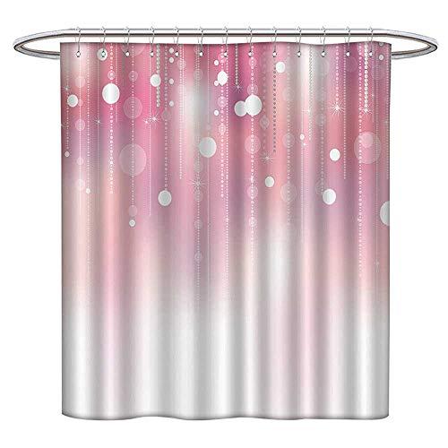 Jiahonghome Modern Decor Shower Curtain Pearls Diamds Shiny Glitter Glow Stylish Home Bridal Mildew Resistant Waterproof W 55 x L 72 ()
