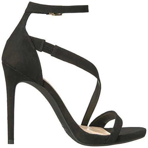 Jessica Simpson Women's Rayli Heeled Sandal Black Microsuede D6TBRc