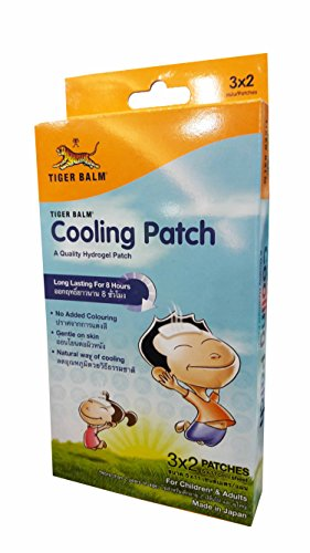 [2 boxes of Tiger Balm Cooling Patch, For children (more than 2 years of age) and adults, A Quality Hydrogel Patch, Long lasting for 8 hours. Size : 5 x 11 cm/ sheet (6 Sheets/ 1] (Soda Mini Costumes)