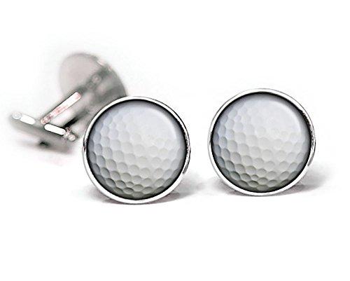 - SharedImagination Golf Cufflinks, Golfball Tie Clip, PGA Tour Cuff Links, Sports Jewelry, Birthday Gifts