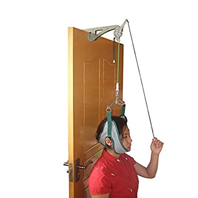 Over The Door Neck Traction Device ixaer Cervical Traction Unit For Neck Shoulder Pain Brace Relief Head Home Physical Therapy
