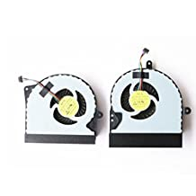 New CPU Fan GPU Cooling Fan VGA for ASUS G751 G751J G751M G751JT G751JY G751JM DFS561405PL0T DFS501105PR0T series (2 different fan for G751 CPU GPU fan, ours voltage is 5V, the thinner one!!)