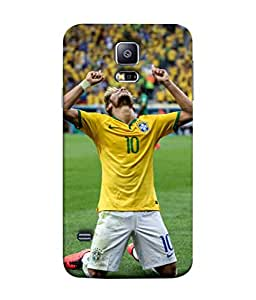 ColorKing Football Neymar Brazil 04 Multi Color shell case cover for Samsung S5