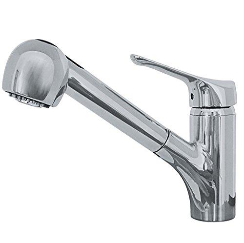 Franke FFPS20080 Vesta Single Handle Pull-Out Kitchen Faucet, Satin Nickel