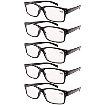 823b83ee7e9 Eyekepper 5-pack Spring Hinges Vintage Reading Glasses Men Readers Black  +1.5