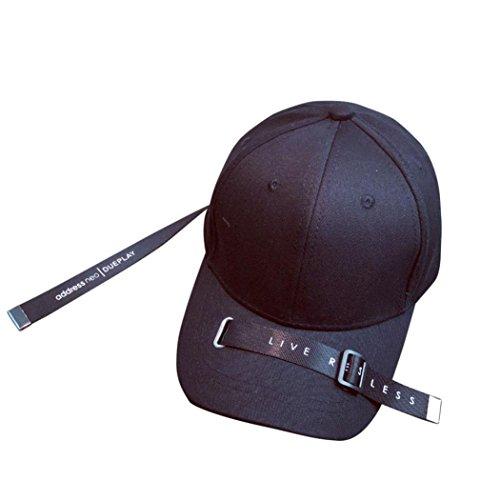 Aire Sombreros Béisbol Gorras QinMM Deporte para Hombre Libre Negro Accesorios gqPZxgw