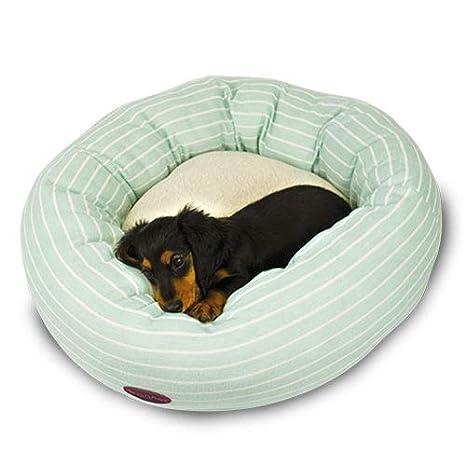 Ibañez Cama para Perros y Gatos Donuts Rayas Azul Marino: Amazon.es: Productos para mascotas