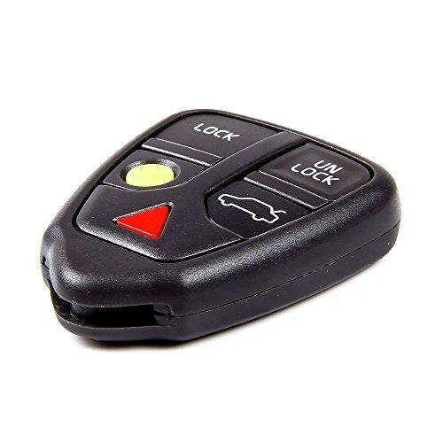 (Remote Fob Smart Keyless Case 5Bts Entry Key Fob Case Shell Housing for Volvo V70 C70 V40 Xc90 S80 S70 Xc70 X/c Wagon LQNP2T-APU 8685150 No Chip)
