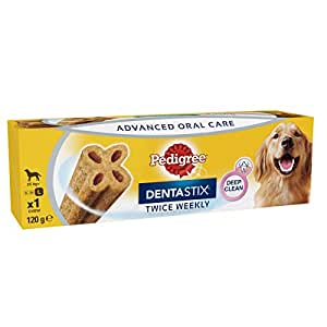 PEDIGREE DENTASTIX Twice Weekly Large Dog Treat, 6 Count