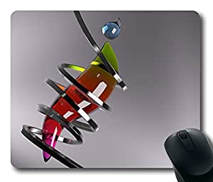 Abstract 3D 9 Gaming Mouse Pad Personalized Hot Oblong Shaped Mouse Mat Design Natural Eco Rubber Durable Computer Desk Stationery Accessories Mouse Pads For Gift - Support Wired Wireless or Bluetooth Mouse