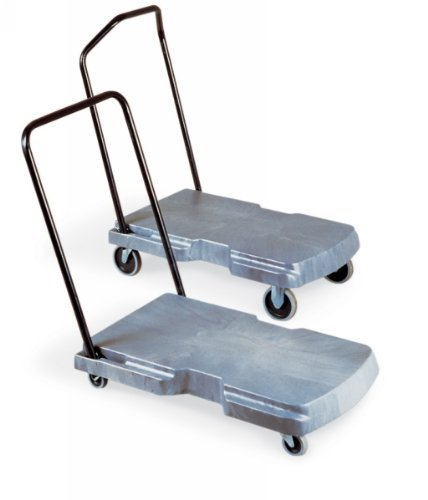 Rubbermaid Commercial Products RCP 4400 BLA Triple Utility Trolley W/ 3-Pos Hndl 250 Lb Max by Rubbermaid Commercial Products (Triple Trolley)