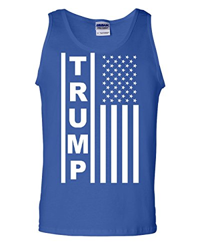 Trump Flag MAGA Republican Tank Top President Pence Republican USA Blue L