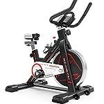 41jmpNV31zL. SS150 QQLK Sports Cyclette Aerobica da Spinning Allenamento - Indoor Fitness Cardio Spin Bike - Freno Silenzioso, Magnetoresistenza Continua, Sedile Regolabile, Carico 100Kg