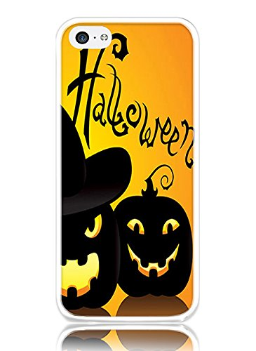 iPhone 5C Hard Cover Ultra Slim Thin Cute (Painted Dogs Halloween)