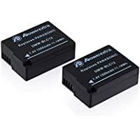 Powerextra 2 Pack Replacement Battery for Panasonic DMW-BLC12, DMW-BLC12E, DMW-BLC12PP and Panasonic Lumix DMC-G85, DMC-FZ200, DMC-FZ1000, DMC-G5, DMC-G6, DMC-G7, DMC-GH2, DMC-GX8, DMC-FZ300K