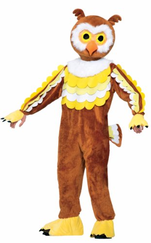 Forum Novelties Men's Give A Hoot Plush Owl Mascot Costume, Brown, One (Mascot Costumes)