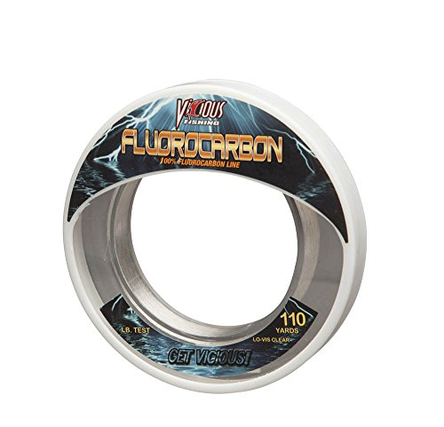 Vicious Fishing Pro Elite EFLWL20 Fluorocarbon Leader 110 yd Wrist Spool/20Lbs For Sale