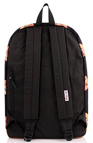 "936Plus College School Backpack Travel Rucksack | Fits 15.6"" Laptop | 18""x12""x6"" | Emoji"