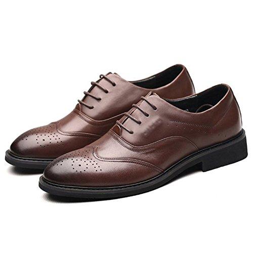 Ronde Hommes Bullock Tête Man Lace Formal La up Commerce Cuir des Fashion Chaussures  Chaussures en ... 82f0bc28ae6