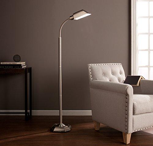 Southern Enterprises Ottlite Alton Task Floor Lamp-Brushed Nickel, a Ott Lite Nickel Table Lamp