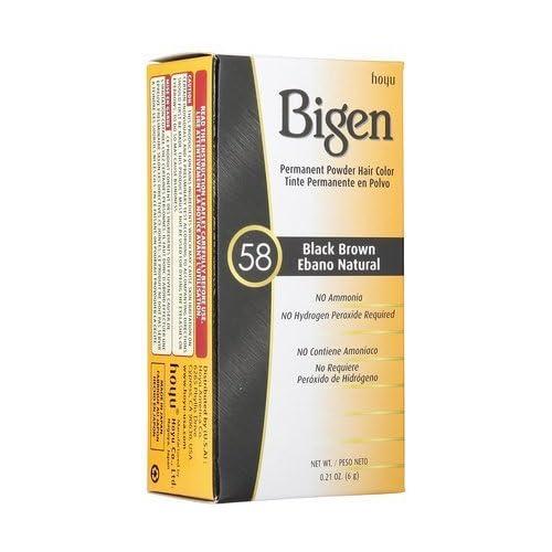 Bigen Hair Color 58-Black Brown-0.21 oz. (Quantity of 6) for cheap