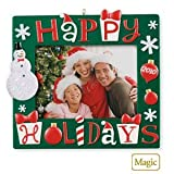 Happy Holidays Photo Holder 2010 Hallmark Ornament
