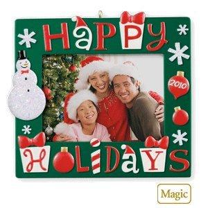Happy Holidays Photo Holder 2010 Hallmark Ornament by Hallmark
