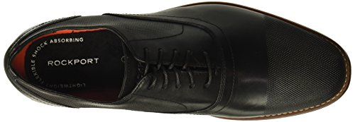 Cap Toe Style Perf Men's Rockport Leather Black Shoe Purpose TqxIXfwU4