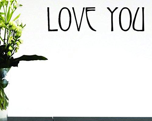 Design with Vinyl Moti 1585 3 Love You Peel /& Stick Wall Sticker Decal Black 16 x 40