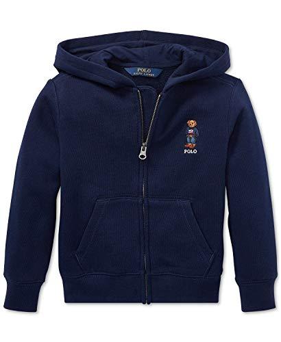 Polo Ralph Lauren Boys Fleece Hoodie Sweatshirt Bear Navy